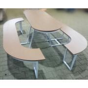 Скамейка со столом уличная